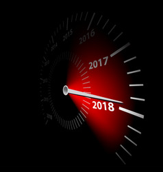 date new year 2018 vector image