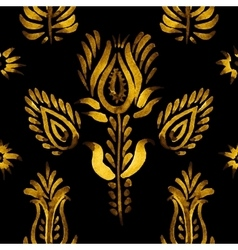 Decorative seamless pattern golden flowers vector
