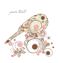 decorative spring bird vector image