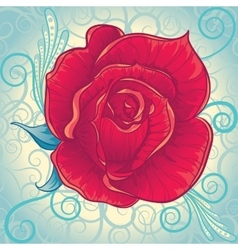 Decorative vintage rose flower vector