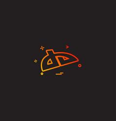 Deviantart icon design vector