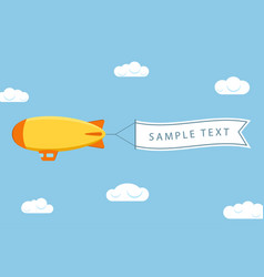 dirigible with banner vector image