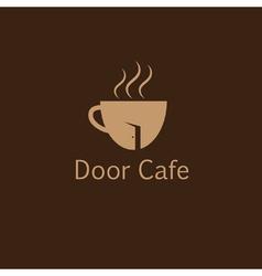 Door cafe design template vector