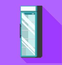 Drink fridge icon flat style vector