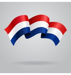Dutch waving flag vector