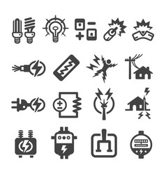 electricelectronic icon vector image