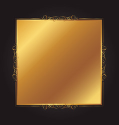 Elegant gold and black background with decorative vector