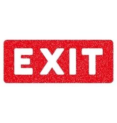 Exit Label Grainy Texture Icon vector