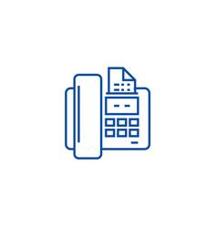 Fax line icon concept fax flat symbol vector