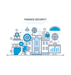 Finance secure payment security protection vector