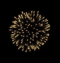 Firework gold bursting isolated background vector
