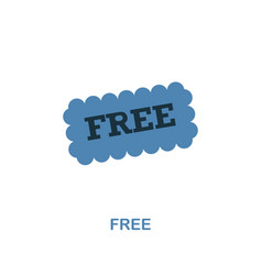 free icon monochrome style design from shopping vector image