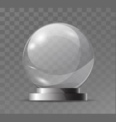 Glass transparent crystal globe magic attribute vector