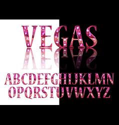 gold 3d broadway alphabet vector image