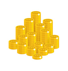 Gold bitcoins mountain vector