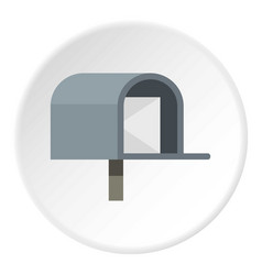 Gray mailbox icon circle vector