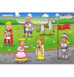 Greek Roman cartoon vector image