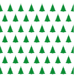 Green christmas trees pattern vector
