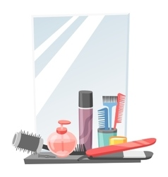 Hairdresser barber icons vector image