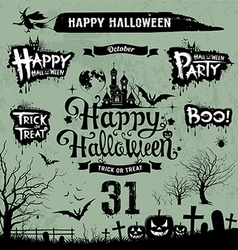 Halloween day silhouette collections vector