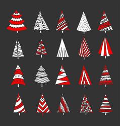 Hand drawn christmas trees vector