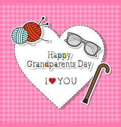 happy grandparents day greeting card colorful vector image vector image