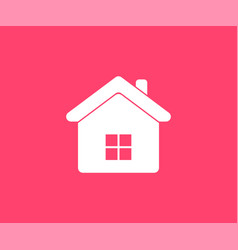 Home icon in flat style vector