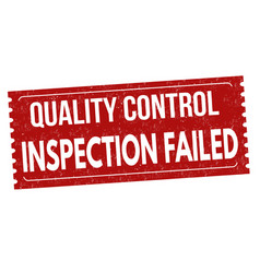 inspection failed grunge rubber stamp vector image