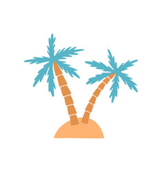 Island palm tree on exotic vector