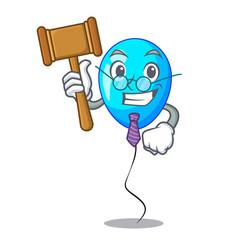 judge blue balloon bunch design on cartoon vector image