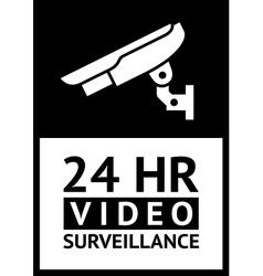 label CCTV vector image