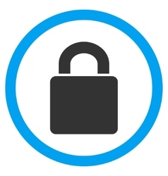 Lock Flat Rounded Icon vector