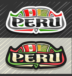 Logo for peru vector
