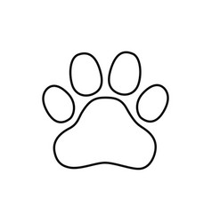 Logo paw logo animals the trail legs of the vector