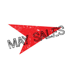 May sales rubber stamp vector