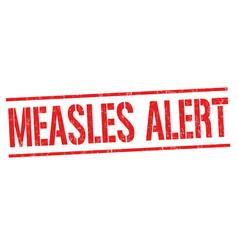 Measles alert grunge rubber stamp vector