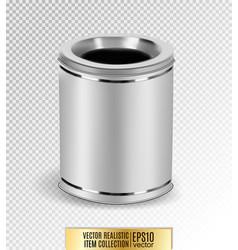 metal garbage bin on transparent background vector image