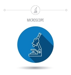 Microscope icon Medical laboratory equipment vector image