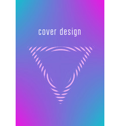 Minimalistic cover template set with gradients vector