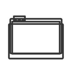 Monochrome contour of office folder vector