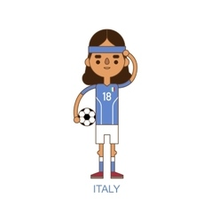 National italy soccer football player vector