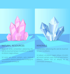 Natural resources and minerals vector