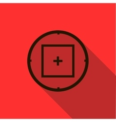 Optical sight icon flat style vector