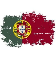 Portugal grunge flag vector
