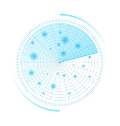 radar screen sonar search hud vector image
