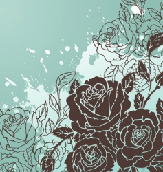 Rose back splash vector