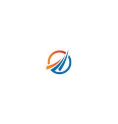 round arrow progress abstract company logo vector image