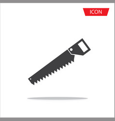 saw icon isolated on white background vector image