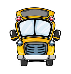 School bus transportation to education travel vector