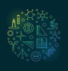 Science technology engineering and math circular vector